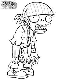 zombie coloring page draw 3863