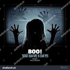 ghost emerges through flickering television stock vector
