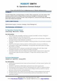 Paralegal Skills For Resume Contract Analyst Resume Samples Qwikresume