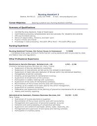 Samples Of Rn Resumes Resume Cover Letter Samples Nursing Assistant