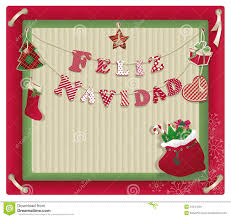 feliz navidad christmas card christmas card with feliz navidad stock vector illustration of