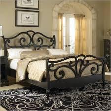 photo of hammary avignon sleigh bed in satin black bedroom