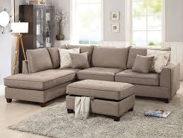 Reversible Sectional Sofa Bobkona Contemporary Modern Design Reversible Sectional Sofa By