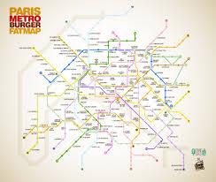 Paris Map Metro by Paris Metro Burger Map