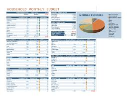 Excel Costing Template Household Monthly Budget Office Templates