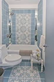 Vintage Style Bathroom Faucets Awesome Old Style Bathroom Tile Using Blue Patterned Ceramic Tiles