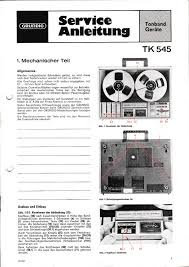 service manual for grundig tk 545 u2022 12 20 picclick