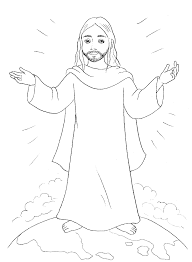 coloring page of jesus ascension jesus coloring pages coloring page