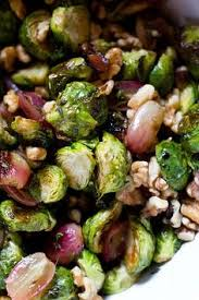 roasted brussels sprouts with pomegranates and vanilla pecan butter