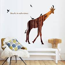 compare prices on jungle wall stickers online shopping buy low amazing home decor jungle giraffe wall sticker removable print wall poster cute animal wall picture for
