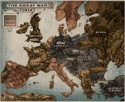 World War 1 Map Of Europe Caricature Map Of Europe 1914 By Keithwormwood On Deviantart