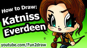 fun2draw thanksgiving how to draw katniss everdeen hunger games fun2draw drawing