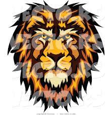 vector profiled cartoon male lion mascot chromaco 1992