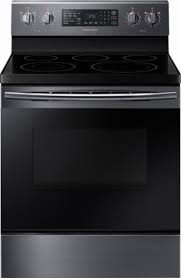 Samsung Cooktops Electric Samsung 5 9 Cu Ft Convection Freestanding Electric Range Black