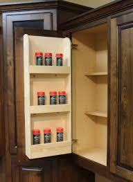 Wall Mount Spice Cabinet With Doors Spice Rack Door Mounted Burrows Cabinets Central