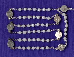 rosary of the seven sorrows vintage luster glass seven sorrows catholic rosary silver karo
