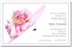big hat brunch invitations stunning floral pink hat party invitations from announcingit