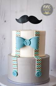 mmc bakes little man cake baby blue mustache cake baby shower