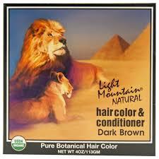 light mountain natural hair color black light mountain dark brown henna hair color conditioner 4 oz