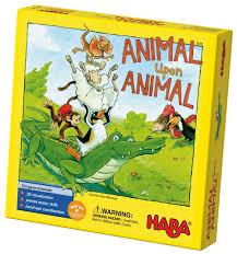 amazon com haba animal upon animal classic wooden stacking game