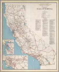 California Road Map Road Map Of The State Of California 1938 David Rumsey