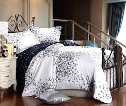 White Queen Size Duvet Cover Luxury Egyptian Cotton Black White Butterfly Satin Comforter