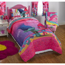 dreamwork u0027s trolls poppy reversible twin full bedding walmart com