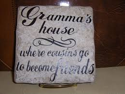 grandma u0027 s house ceramic tile with stand
