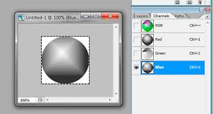 adobe photoshop how to put a layer into one of the rgb channels