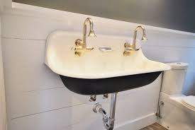 trough sink two faucets sink undermount trough bathroomnk with two faucets winsome images