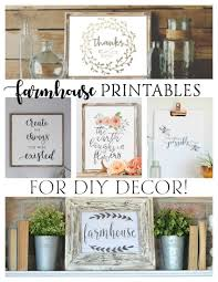 free farmhouse printables for diy decor free printables craft