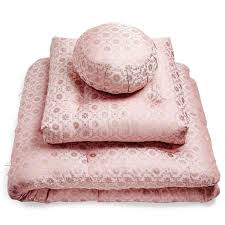 sari pattern zafu meditation cushion samadhi pink sari meditation cushions home mbr retreat