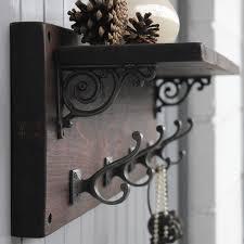 coat rack with shelf mail pocket key hooks coat hooks organized
