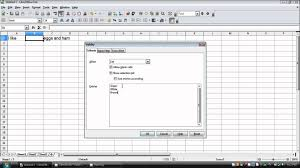 Reference Letter Template Open Office How To Make A Drop Down List In Openoffice Libreoffice Calc Youtube