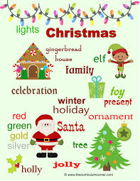christmas word wall for writers the curriculum corner 123