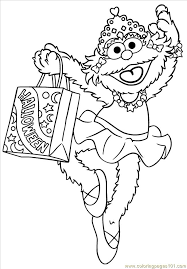 Count Color Pages In Pdf Zoe Coloring Page Free Sesame Coloring