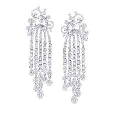 diamond earrings designs 18k gold chandelier designer diamond earrings 6 29ctw