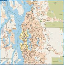Tacoma Washington Map by Tacoma To Olympia Metro Map Digital Creative Force