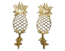 Pineapple Sconce Vintage Pineapple Wall Sconce Pineapple Candle Holders