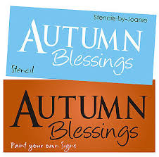 fall harvest stencils collection on ebay