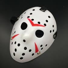 Jason Halloween Costume Friday The 13th Jason Voorhees Mask Halloween Costume Prop Red