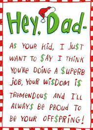 hey dad funny humorous christmas card by recycled paper greetings