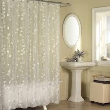 Shower Curtain Clear Excell Metallic Pattern Clear Vinyl Shower Curtain Free