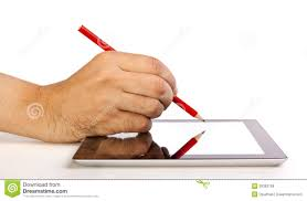 paper writing tablet hand writing on a tablet with a pencil royalty free stock images royalty free stock photo