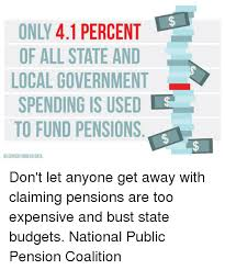 bureau des pensions only 41 percent of all state and local government spending is used s
