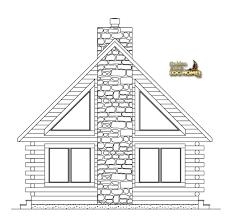 golden eagle log homes floor plan details lake front 1566al