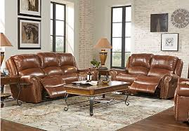 Sofa Rooms To Go by Abruzzo Brown 5 Pc Leather Living Room 1 999 99 Find