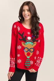 nerdy reindeer light up sweater u0027s