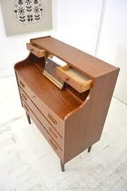 danish 1960s teak bureau vanity unit