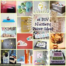 Decor Nursery 18 Diy Nursery Decor Ideas A Craft In Your Day